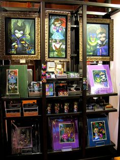 Marketplace Co-Op at Downtown Disney Orlando, Florida. WonderGround Gallery display; limited–edition artwork and merchandise. January,2015. Jasmine Becket Griffith