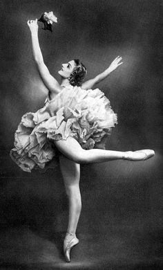 Russian ballerina Natalia Dudinskaja. I kind of love the underside of her tutu. It looks like a carnation.