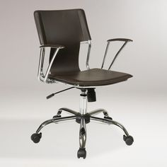 Espresso Ethan Office Chair | World Market