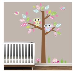 Vinyl pattern decal stickerTree wall decal by Modernwalls on Etsy