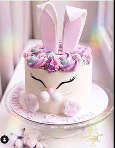 Renshaw's White Rabbit Cake Recipe Bunny Birthday Cake, Easter Bunny Cake, Bunny Cakes, Birthday Cakes, Easter Cake Images, Desserts Ostern, Easter Desserts, Gateau Baby Shower, Rabbit Cake