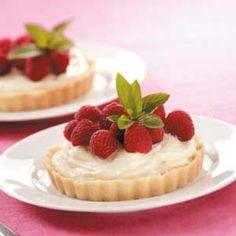 Raspberry cream tarts with shortbread crust www.MadamPaloozaEmporium.com www.facebook.com/MadamPalooza