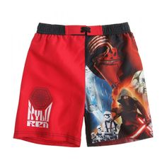Star Wars – The Clone Wars Badehose –rot- - happy-e-shopping Clone Wars, Star Wars, Costume, Trunks, Stars, Swimwear, Kids, Shopping, Happy