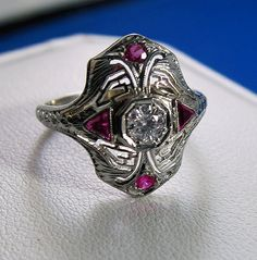 Art Deco ring.  Visit Renaissance Fine Jewelry in Vermont or at www.vermontjewel.com