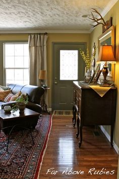 How To Decorate When Your Front Door Opens Into Your Living Room