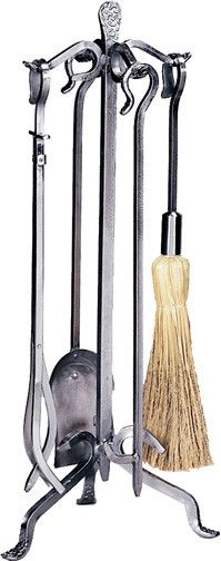 Buy the Uniflame Wrought Iron Direct. Shop for the Uniflame Wrought Iron High 5 Piece Pewter Wrought Iron Fireset with Crook Handle and save. Fireplace Accessories, Home Decor Accessories, Tool Stand, Metal Workshop, Wrought Iron Decor, Fireplace Tool Set, Iron Doors, Metal Projects, Stores