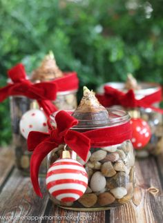 There can be a variety of ideas for turning the mason jars into extra ordinary beautiful gifts but here we will discuss Top 10 DIY Mason Jar Gift's For Everyone. Cheap Christmas Gifts, Christmas Jars, Handmade Christmas, Christmas Crafts, Christmas Ideas, Holiday Gifts, Christmas Tree, Holiday Decor, Pot Mason Diy