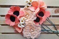 Six felt wildflowers by handmadecolectibles on Etsy,
