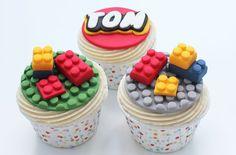 Building block cake decorations