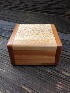Small Sycamore and Mahogany box