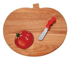 Tomato Cutting Board w/ Sauce Dish and Spreader | Product sku J-131582