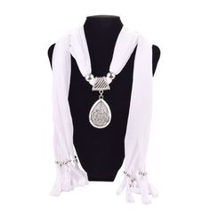 Waterdrop Pendant Necklace Jewelry Scarves