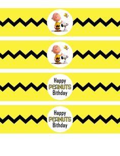 Peanuts Water Bottle Labels, Peanuts Movie Party, Peanuts 2015 Movie Water Bottle Labels, Snoopy Invite, Peanuts Invitation by GiggleBeanParties on Etsy