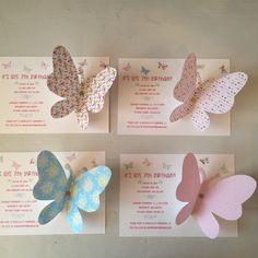 Ideas Baby Girl Shower Spring Birthdays For 2019 Butterfly Invitations, Baby Shower Invitations, Birthday Invitations, Butterfly Baby Shower, Butterfly Party, Diy Birthday, Birthday Cards, Butterfly Birthday Cakes, Girl Birthday Decorations