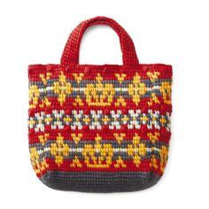 アフガン編みのノルディック風模様 ていねいに編みたい毛糸のトートバッグの会(6回限定コレクション) | フェリシモ