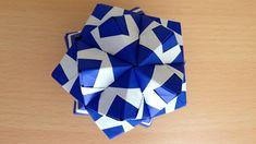 折り紙 くす玉 薗部式 裏出し30ユニット 2 折り方 Origami Kusudama sonobe inside out 30units