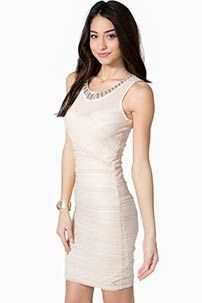 Rehearsal dress?  A'GACI Lace Banded Jewel Dress - Dressy