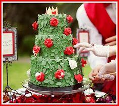 Queen of Hearts rose garden cake, wow!