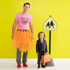 cute father - daughter costume I want to do this one Halloween Pair Halloween Costumes, Cute Costumes, Family Costumes, Costume Ideas, Daddy Daughter, Husband, Tutu Tutorial, Lucky Girl, Holidays Halloween