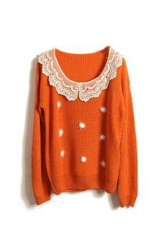orange you a pretty sweater
