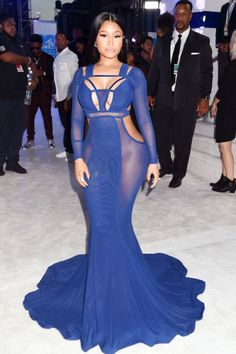 Rapper Nicki Minaj looked stunning while attending the 2016 MTV Video Music Awards at Madison Square Garden.  (Photo by Jeff Kravitz/FilmMagic)