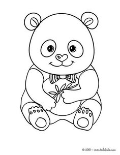 Cute panda coloring page. More Asian animals coloring pages on hellokids.com