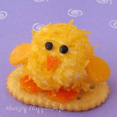 Baby Chick Cheese Balls - cute little appetizers for Easter dinner