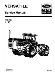 Ford TW5, TW15, TW25, TW35 Tractor Service Manual (With