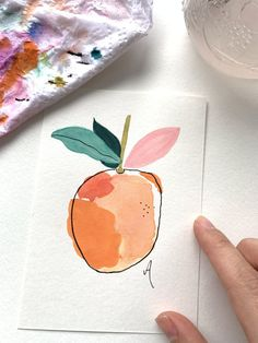 Drawing and painting with colours awesome Tagged with Paper art colours drawing fruit green nice orange painting white Painting Inspiration, Art Inspo, Easy Watercolor, Simple Watercolor Paintings, Simple Paintings, Watercolors, Watercolor Trees, Watercolor Landscape, Simple Watercolor Flowers