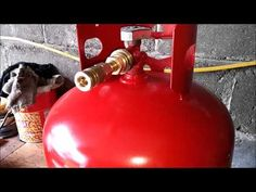 Propane tank to air tank - YouTube