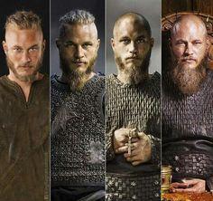 Evolution of Ragnar lothrok.  #Vikings #Ragnarlothbrok #travisfimmel