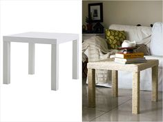 Ikea Hack: Lack Coffee Table. So amazing! #diy #home http://www.ivillage.com/ikea-hack-how-transform-and-repurpose-your-ikea-furniture/7-a-525310