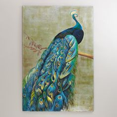 Decorative peacock drawings | Graceful Peacock Painting | World Market
