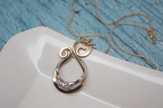 Magic Ring Holder Necklace, Wedding / Engagement Ring Holder Pendant, Yellow or Rose Gold Filled
