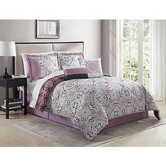 The Chic Styling Of The Shabby Comforter Set Brings A Distinct And Joyous  Mauve Tone To Your Bedroom. Coming With A Comforter, Pillow Shams,  Cushions, ...