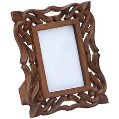 SouvNear Wood Picture Frame for 4x6 Photos Vintage-Look Hand-Carved... (€18) ❤ liked on Polyvore featuring home, home decor, frames, wooden frames, timber frames, hand carved picture frames, antique looking picture frames and wooden home decor