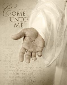 """Come unto me, all ye that labour and are heavy laden, and I will give you rest. Take my yoke upon you, and learn of me; for I am meek and lowly in heart: and ye shall find rest unto your souls. For my yoke is easy, and my burden is light. Lds Quotes, Inspirational Quotes, Come Unto Me, Soli Deo Gloria, Saint Esprit, Jesus Christus, Lord And Savior, King Jesus, God Jesus"