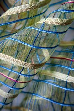 sheer; Detail, textile by London-based British textile designer and color consultant Bonnie Kirkwood; pinned 10/23/15