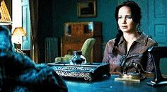 Hunger Games / Catching Fire / Katniss (she's talking with President Snow about her relationship with Gale and Peeta)