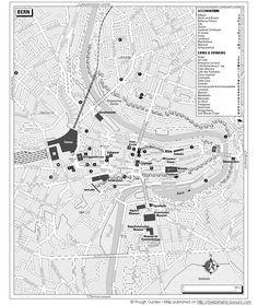 Harta turistica Berna, Elvetia