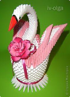 Мастер-класс Оригами модульное: Мастер-класс двойного лебедя Бумага. Фото 1