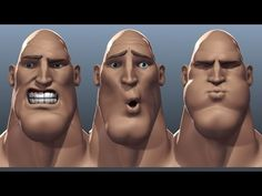 ▶ Tough Guy Facial Rig Test With Wireframe Overlay - YouTube
