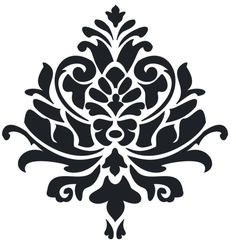 Stencils of flourishes, decorative borders and corner designs for artists, mixed media crafters, fiber arts, classrooms and DIY home decor projects. Stencil Painting, Fabric Painting, Stenciling, Sign Painting, Stencil Patterns, Stencil Designs, Folk Embroidery, Embroidery Ideas, Decorative Borders