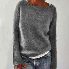Casual Sweaters, Pullover Sweaters, Sweaters For Women, Knit Sweaters, Long Sweaters, Jumper, Mode Outfits, Long Sleeve Sweater, Loose Sweater