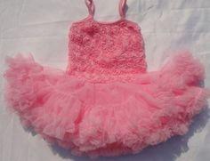 Free Shipping 1T/2T Pink Tutu Dress for Girls-Baby Tutu Dress   sariasknitncrochet - Children's on ArtFire