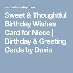 Sweet Thoughtful Birthday Wishes Card For Niece