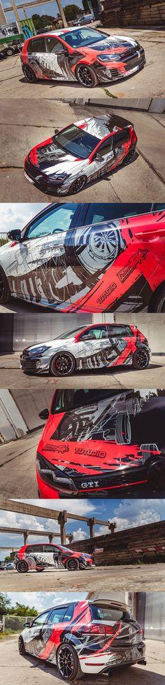 (notitle) - Wraps and graphics - Autos Golf 6 Gti, Car Folie, Car Paint Jobs, Best Wraps, Custom Wraps, Sneakers Looks, Car Colors, Car Painting, Car Wrap