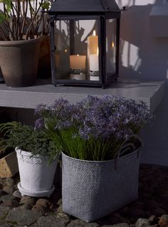 Lene Bjerre - SPRING 2013. KAMILLA basket, WISTERIA flower pot and FLORALINE lantern.