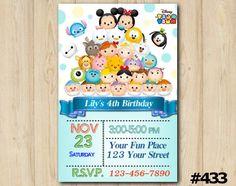 Tsum Tsum Invitation  birthday party custom printable (#433) by EventsPrintables on Etsy https://www.etsy.com/listing/243005993/tsum-tsum-invitation-birthday-party
