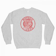 You can get this Saved By The Bell Bayside Sweatshirt in your size now on EPARIZI. This product are available for men and women. Quote Tshirts, Funny T Shirt Sayings, Funny Tshirts, Popular Now, Saved By The Bell, Graphic Tee Shirts, Fashion Addict, Sweatshirts, Grunge